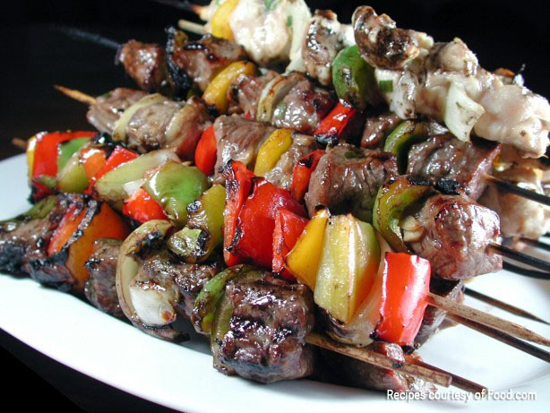 Grilled Steak & Chicken Kabobs